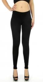 wholesale A18 Solid long cotton leggings Black S
