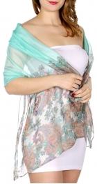 Wholesale H39D Colorful paisley scarf MI