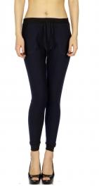 Wholesale B07C Ladies fur lined jogger leggings Navy