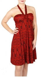 Wholesale I18A Abstract Pattern Halter Neck Dress RD