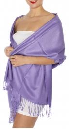 wholesale D45 Silky Solid Wedding Pashmina 61 L Purple