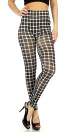 wholesale A11 Checkered cotton leggings Black/White