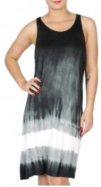 Wholesale K61C Cotton racerback tie dye dress BLACK