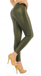 wholesale F14 Embellished matte liquid leggings GN S/M