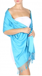 wholesale D02 Silk feel solid wedding pashmina Turquoise