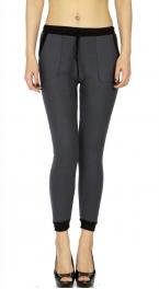 Wholesale B07C Ladies fur lined jogger leggings L.Gray
