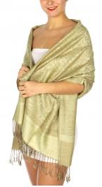 wholesale D37 Whole Jacquard Pashmina 102 Khaki
