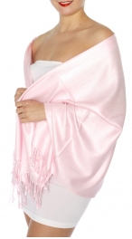 wholesale D45 Silky Solid Wedding Pashmina 32 L Pink