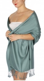 wholesale D36 Solid HD Wedding Pashmina 28 Bright Teal