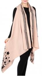 Wholesale Y28D Cotton blend embroidery vest wrap