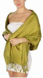 wholesale D36 Solid HD Wedding Pashmina 15 Green