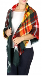 Wholesale O04B Square scarf Plaid