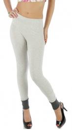 wholesale L43 Ankle accent cotton leggings Melange