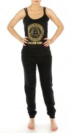 wholesale G32 Mean Girl print cotton pajama set Black