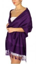 wholesale D37 Whole Jacquard Pashmina 92 Purple