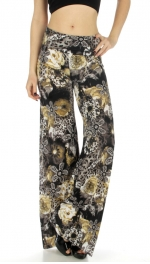 wholesale WA00 Floral cheetah print palazzo pants