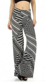wholesale WA00 zigzag print palazzo pants fashionunic