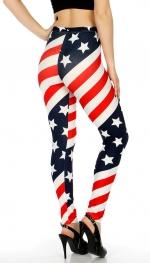Wholesale E01 Cotton blend american flag leggings