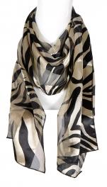 Wholesale G07A Satin stripe zebra scarves TP