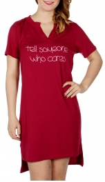 Wholesale D66 TELL SOMEONE jersey nightshirt Red