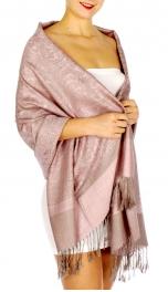 wholesale D33 Whole Jacquard Pashmina 60 Beige Pink