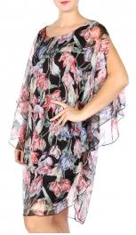 Wholesale Q12-1E Cotton blend cold-shoulder dress