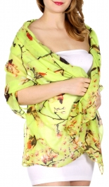 Wholesale G22D Blossoming tree & bird print scarf LM