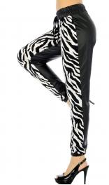 J06 Wholesale Zebra faux lether joggers fashionunic