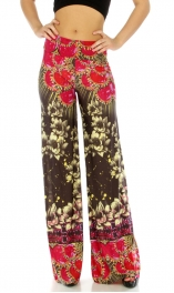 wholesale B28 Wide waistband rose palazzo pants