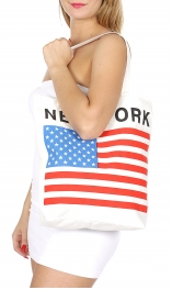 Wholesale P01B The stars and stripes print tote bag