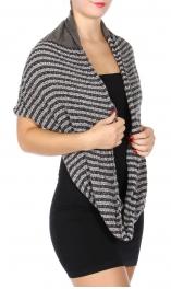 wholesale T84B Stripe woven infinity scarf Dozen
