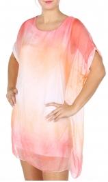 Wholesale Q13-1E Cotton blend short sleeve dress