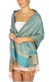 wholesale D33 Whole Jacquard Pashmina 34 Blue Turquoise