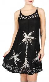 Wholesale I30E Palm Trees Spaghetti Strap Dress BK