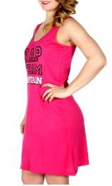 Wholesale Q17-1C NAP TEAM CAPTAIN sleeveless nightshirt Fuchsia
