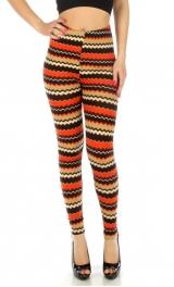 wholesale A07 SD9932 Fair isle leggings fashionunic