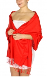 wholesale D01 Silky Light Wedding Pashmina 04 Red