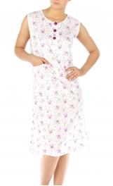 wholesale M37 Cotton blend floral nightgown Purple M