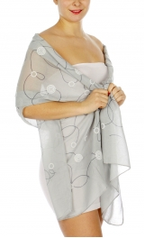 Wholesale I09D Abstract lines & circles embroidered scarf GY