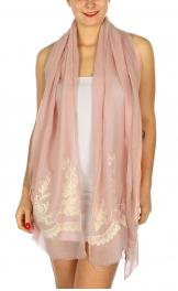 Wholesale BX00 Elegant flower embroidery scarf PN