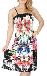 Wholesale G31D Decalcomanie floral print dress Black