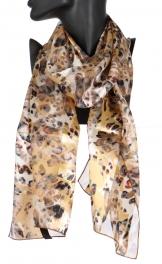 Wholesale WA00 Safari satin stripe scarf GD