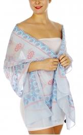 Wholesale I01B Tribal ikat pattern print scarf BL