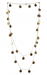 wholesale Two tone layered necklace SV/GD
