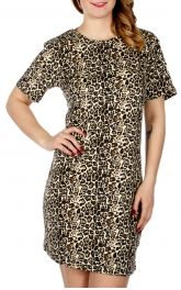 Wholesale F13 Leopard print short sleeve nightshirt Animal
