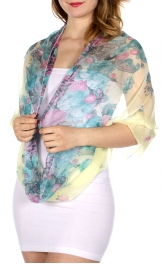 Wholesale-H49D Flower & animal print infinity scarf LE