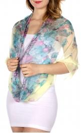 Wholesale-H49D Flower & animal print infinity scarf LE