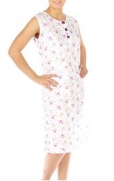 wholesale M37 Cotton blend floral nightgown Purple L