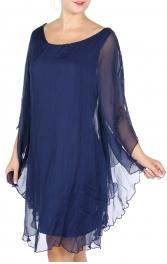 Wholesale R77A Cotton blend ruffle hem dress