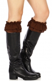 Wholesale R19 Ruffles & lace boot toppers B